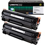 LINKYO Compatible Toner Cartridge Replacement for Canon 128 (Black, 2-Pack)