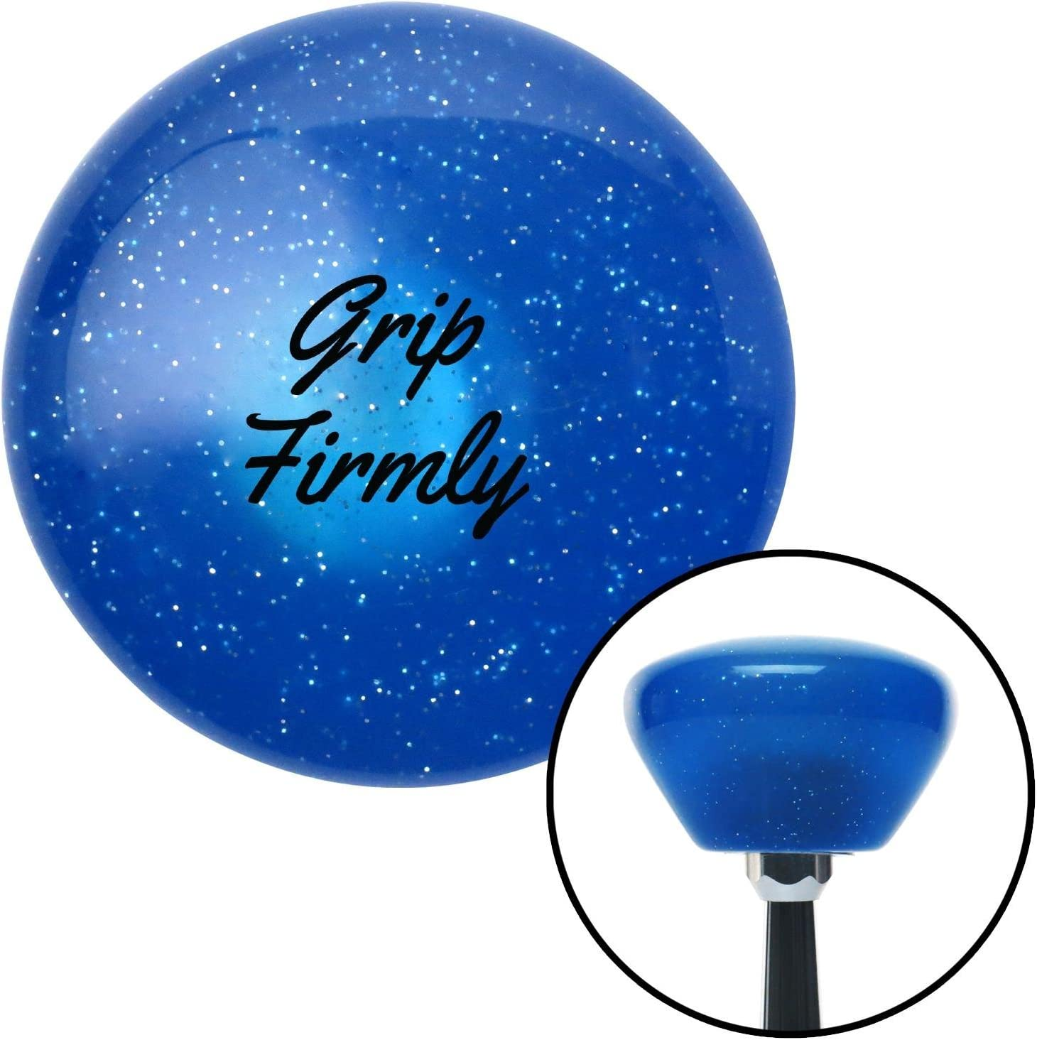 American Shifter 192448 Blue Retro Metal Flake Shift Knob with M16 x 1.5 Insert Black Grip Firmly