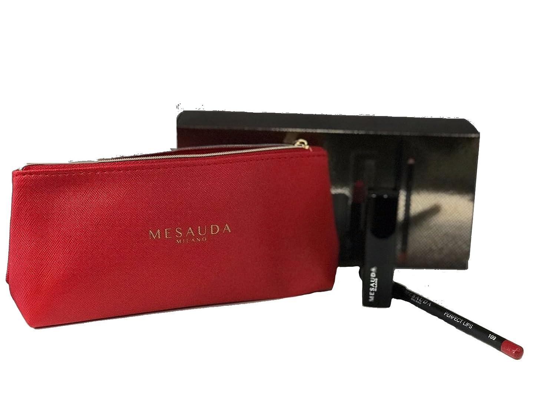 Set Trucco Lady's Dream - Matita Labbra Perfect Lips 110 + Rossetto Backstage 127 + Pochette - Idea Regalo Mesauda