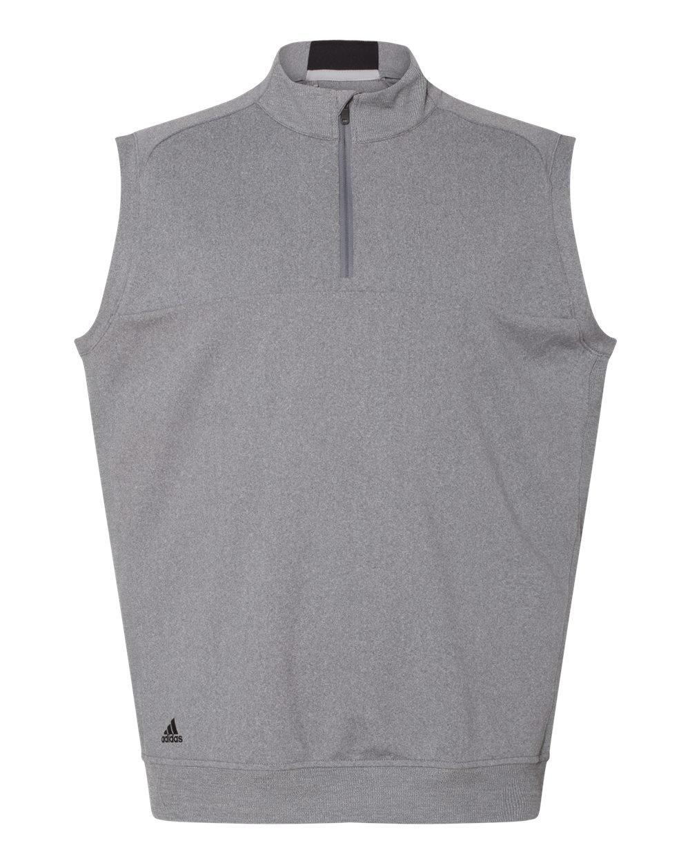 adidas Golf Mens Quarter-Zip Club Vest (A271) -Vista Grey -M
