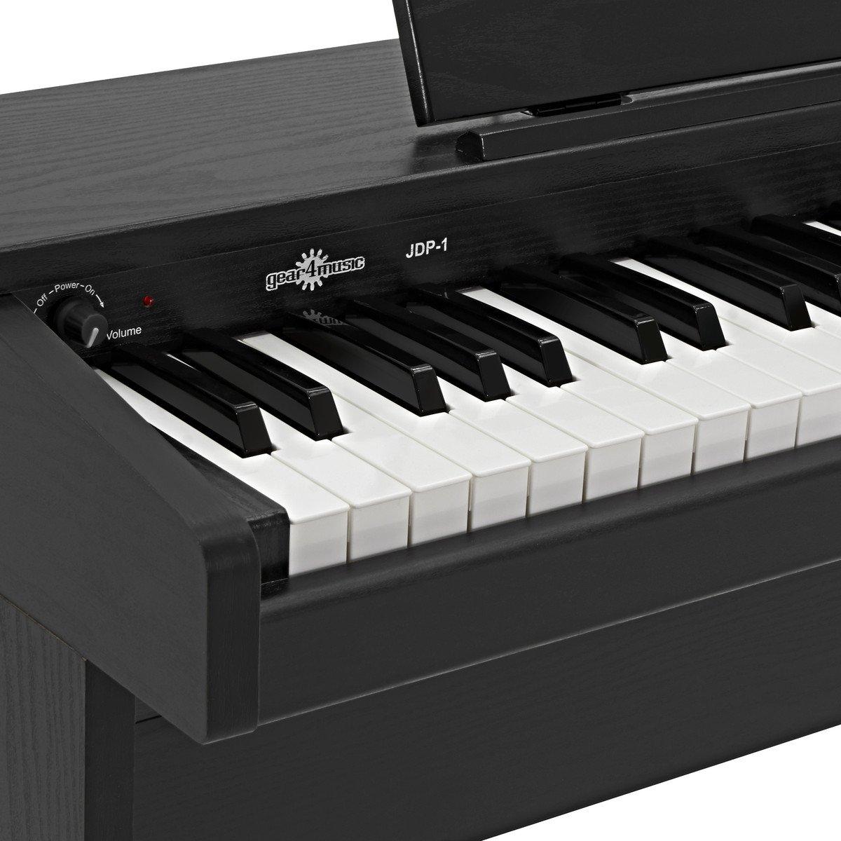 Piano Digital Junior JDP-1 de Gear4music - Negro Mate