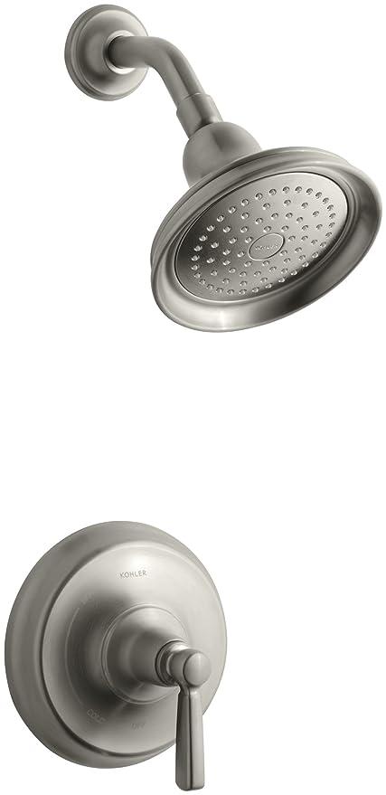 Brushed Nickel Kohler Shower Faucets.Kohler K T10583 4 Bn Bancroft Rite Temp Pressure Balancing Shower Faucet Trim Vibrant Brushed Nickel
