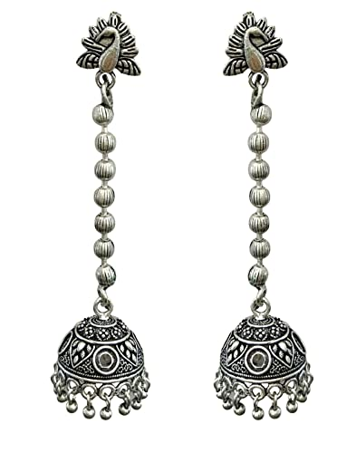 dfb9554bc Buy The Trendy Trendz Oxidised Silver Metal, German Silver Peacock Top  Jhumka/Jhumki for Women And Girls Online at Low Prices in India | Amazon  Jewellery ...