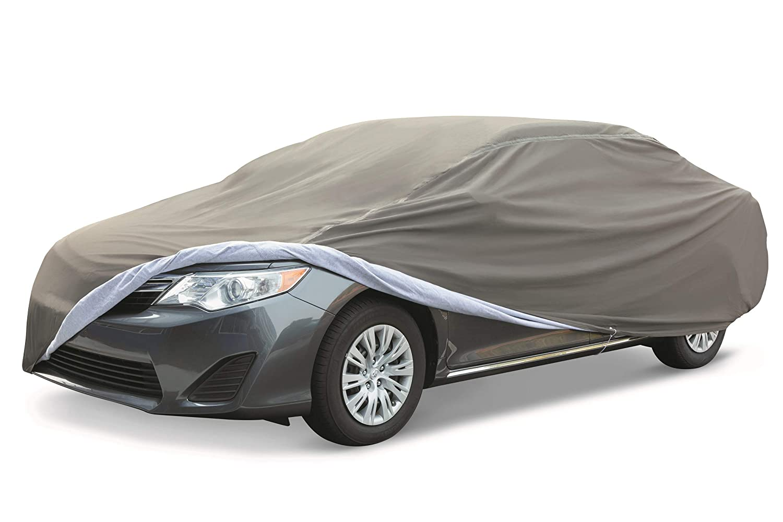 Waterproof Car Cover >> Amazonbasics Premium Waterproof Car Cover For Cars Up To 204 Inch Large Sedan