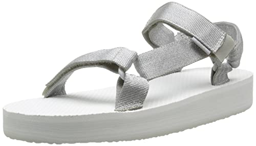 6c556f640b3 Teva Girls  Y Hi-Rise Universal Sandals Silver Size  UK 3