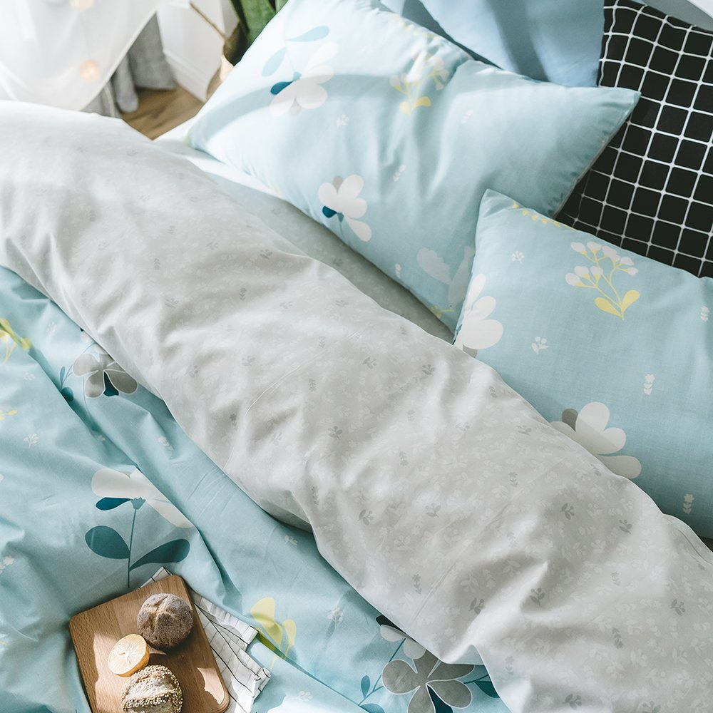 Luxury Floral Girls Duvet Cover Set King Vintage Flower Printed Bedding Set 3 Piece Reversible Bedding Cover Set for Kids Adults Cotton King Duvet Cover Set 1 Duvet Cover with 2 Pillowcases AMWAN FS170804K4