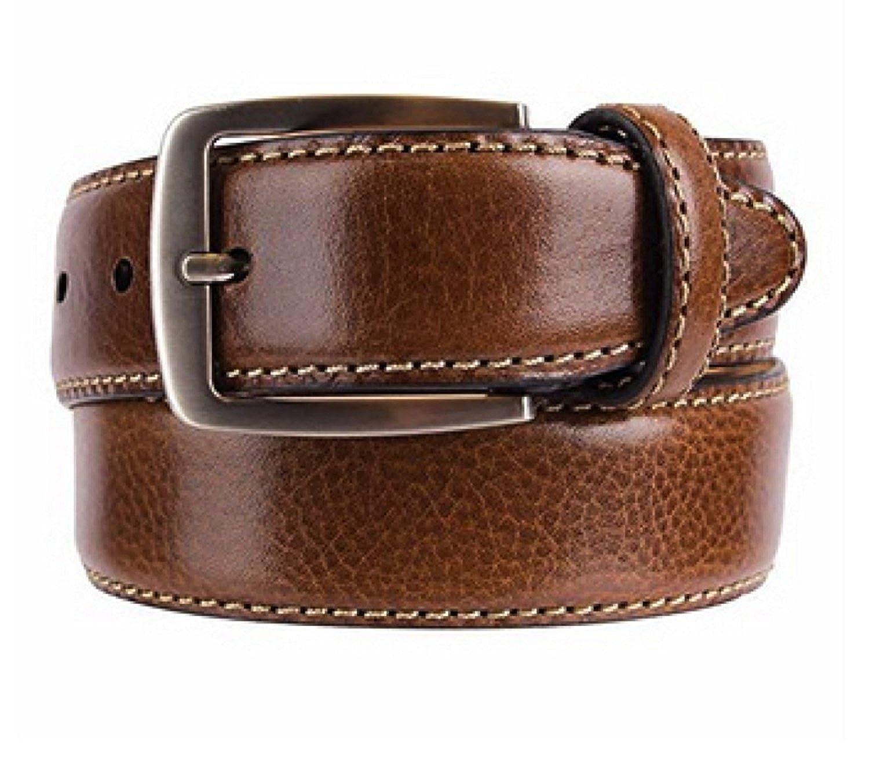 Kirkland Signature Mens Italian Leather Full Grain Belt Brown Size 34