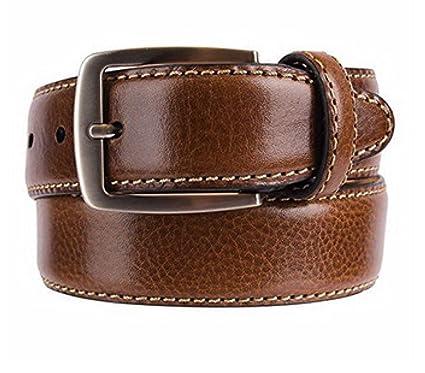 d9ee8bad614 Kirkland Signature Men's Italian Leather Full Grain Belt Brown Size 34