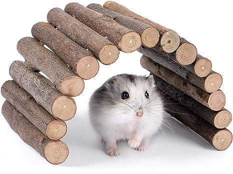 Niteangel escalera de madera puente hámster rata del ratón roedores juguete animal chew toy 9