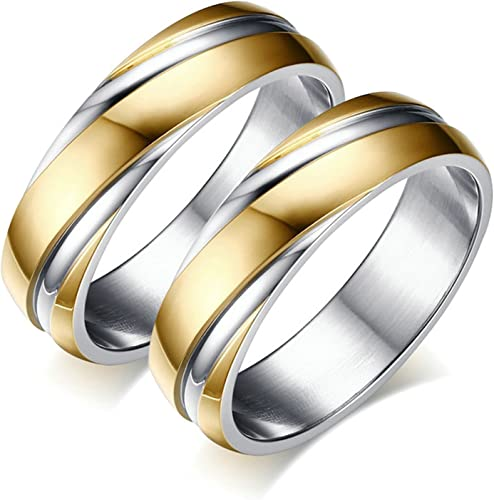 Bishilin Wedding Ring for Men Iced Out Ring Round White Cubic Zirconia Ring Set Size 10