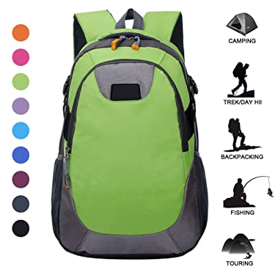 Outdoor Hiking Camping Trekking Backpack Lightweight Waterproof Casual Daypack for Women and Men By BODFY
