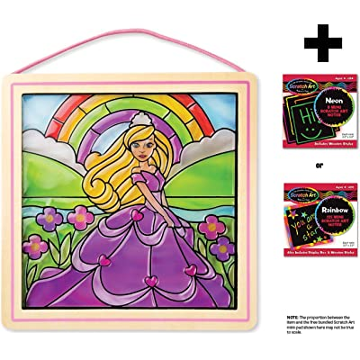 Melissa & Doug Princess: Stained Glass Made Easy Series & 1 Scratch Art Mini-Pad Bundle (09435): Toys & Games