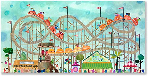 Oopsy Daisy Roller Coaster Fun Stretched Canvas Wall Art