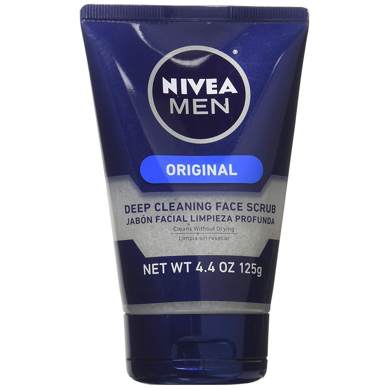 NIVEA FOR MEN Original, Deep Cleaning Face Scrub 4.4 oz (Pack of 9)