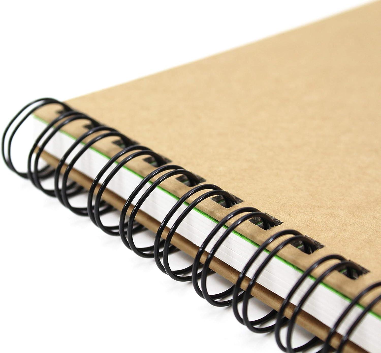 40 fogli Artgecko Krafty album per schizzi A5 verticale di 80 pagine 150gsm Acid Libro bianco libero della cartuccia