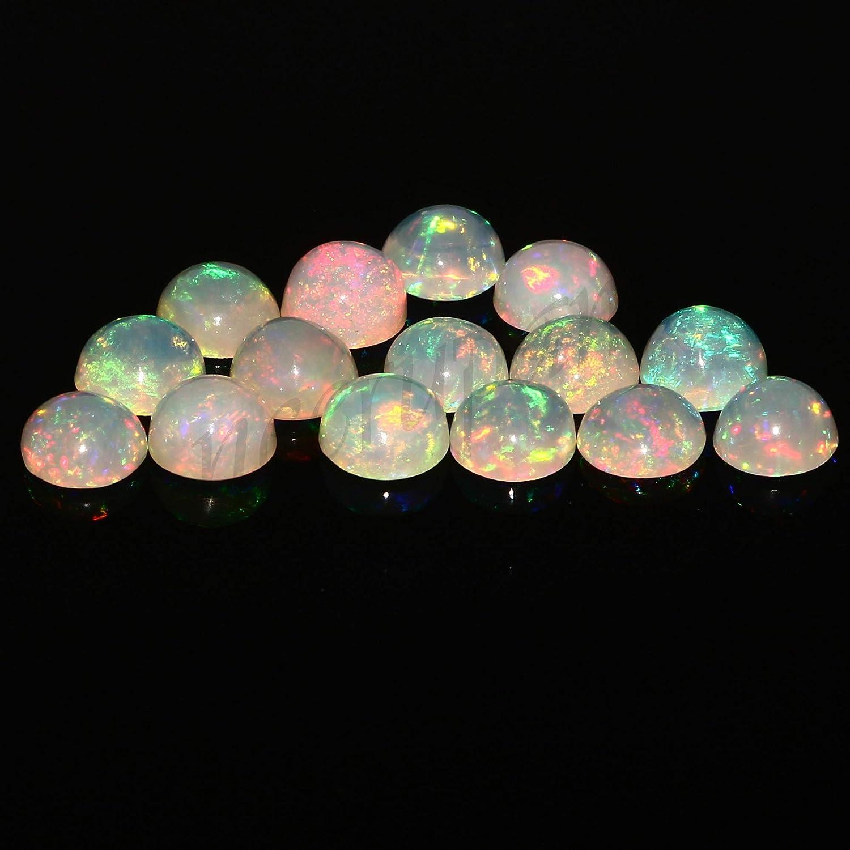 Natural Cushion Shape Fire Ethiopian Welo Opal Loose Gemstone 10 Pcs AAA Quality Faceted Ethiopian Opal High Grade Calibrated Size Opal