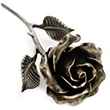 Hand Forged Metal Rose (Bronze Stained) (Single Rose)