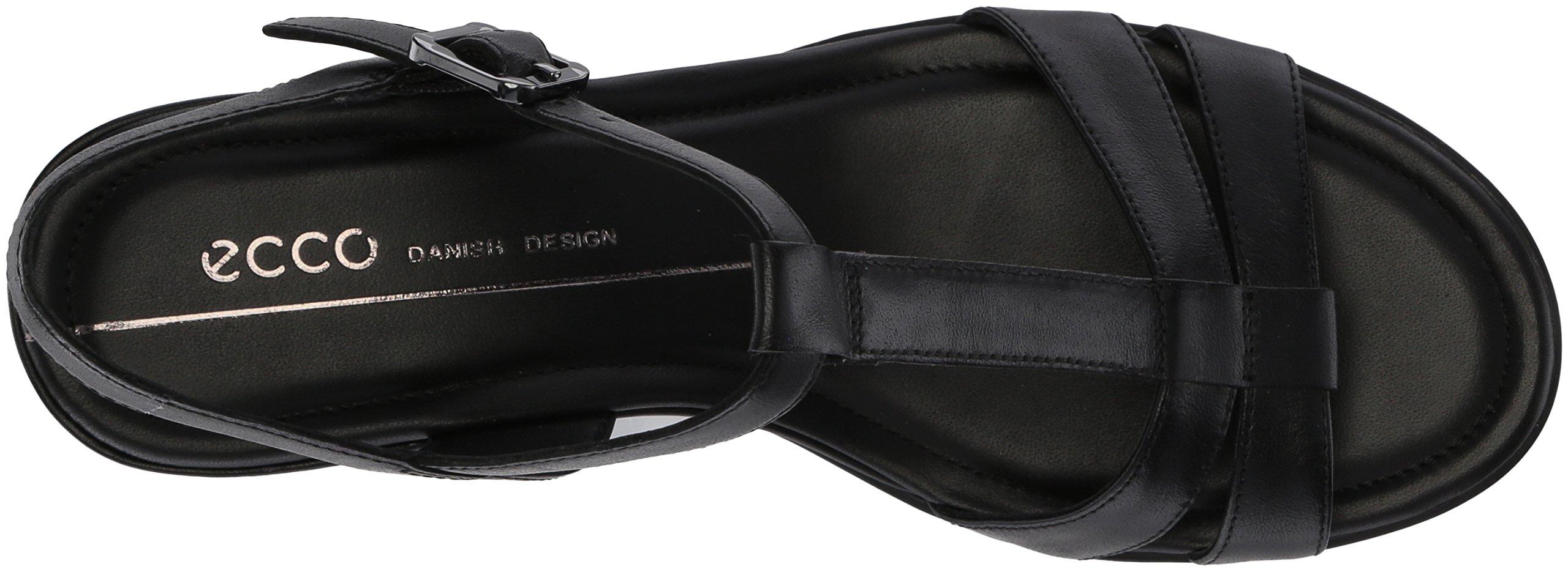 ECCO Women's Women's Shape 35 T-Strap Wedge Sandal, Black/Black, 37 M EU (6-6.5 US) by ECCO (Image #7)