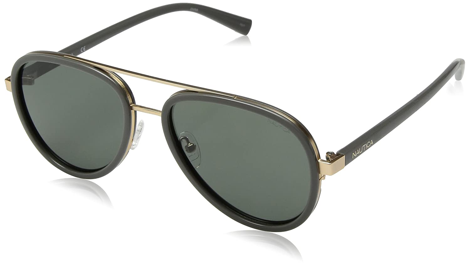 Amazon.com: Nautica n4627sp polarizado Aviator anteojos de ...