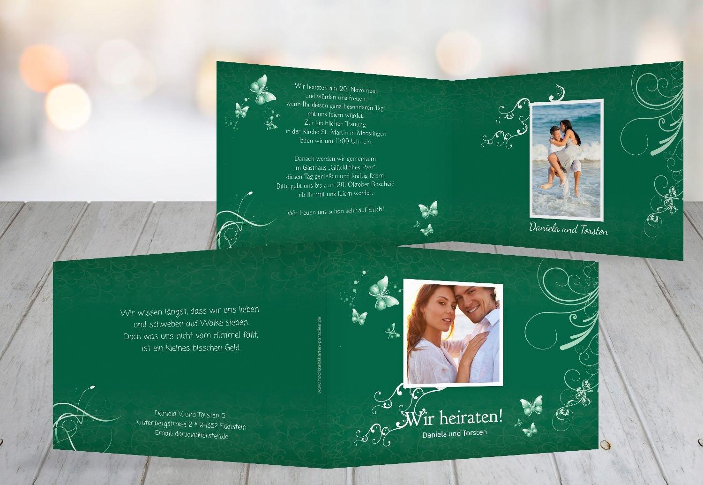 Kartenparadies Hochzeitskarte Hochzeit Einladung butterfly, hochwertige Einladung zur Heirat inklusive Umschläge   10 Karten - (Format  148x105 mm) Farbe  Lila B01N13BXTV | Angemessener Preis  | Deutsche Outlets  | Glücklicher Startpunkt