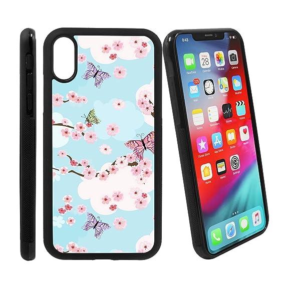 quality design e886e 0f472 Amazon.com: [Cherry Blossoms Background] Compatible with Apple ...