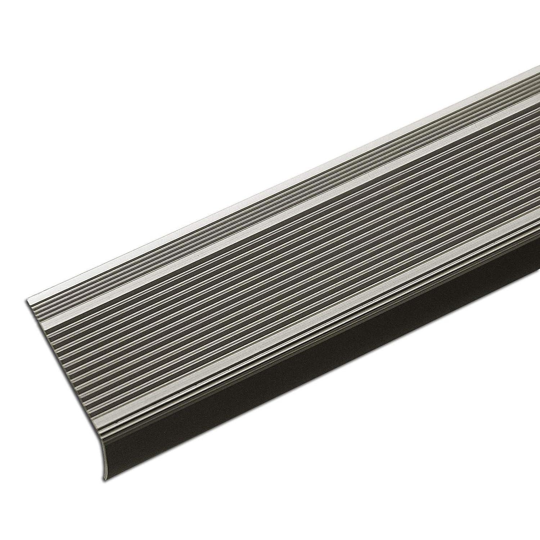 eloxiert Bronze Alu Stufenkantenprofil Integral Breite 30 mm L Form selbstklebendes Treppen Profil 100 cm