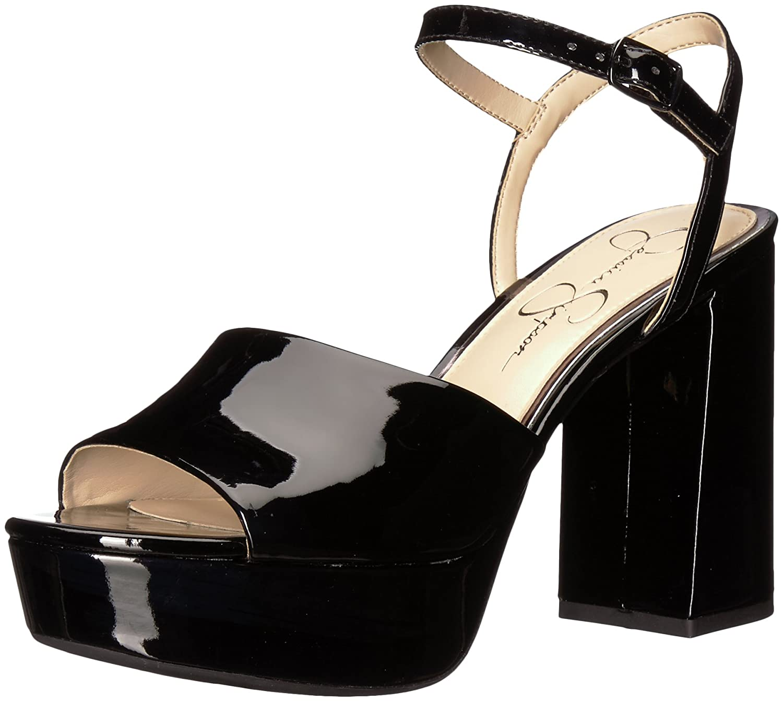 Jessica Simpson Women's Kerrick Heeled Sandal B075TFLMHG 8.5 B(M) US Black Patent