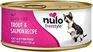 Nulo 1 Count Freestyle Grain Free Trout & Salmon Recipe Can Cat Food (24 Each), 5.5 Oz