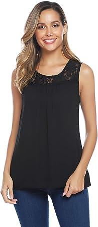 [Composición:] Elegante camisa de gasa, tejido 100% poliéster, suave y ligero.,[Estilo y diseño:] Bl