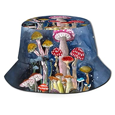 Pipaxing Night Shrooms Bucket Hat Summer Fisherman Cap para ...