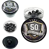 100x Premium Quality Hard Mix Rubber Steel Balls Paintballs Reballs Powerballs in 50 Cal. for Shooting Training Home and Self