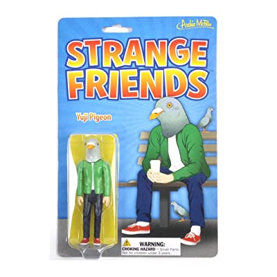 Archie McPhee Strange Friends Yuji Pigeon Action Figure: Toys & Games