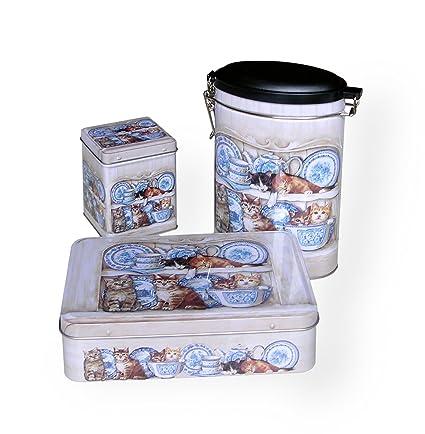 Diseño de gatos de cocina de latas para - (x3)