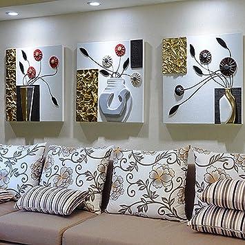 GCCI Moderne Einfache Wohnzimmer Sofa Hintergrund Wand Dekoration Malerei  Europäischen Dreidimensionalen Relief Malerei Drei Malerei Wandmalereien
