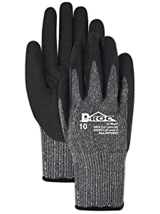 Magid Glove & Safety GPD82011 Cut Resistant Black Nitrile Coated Mechanics Work Gloves   EN388 Level 5 Cut Gloves with Enhanced Grip & Touch Screen Fingers - Size 11 (1 Pair)
