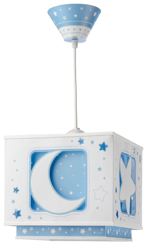 dalber tl lmpara para habitacin infantil diseo de luna en color azul amazones iluminacin