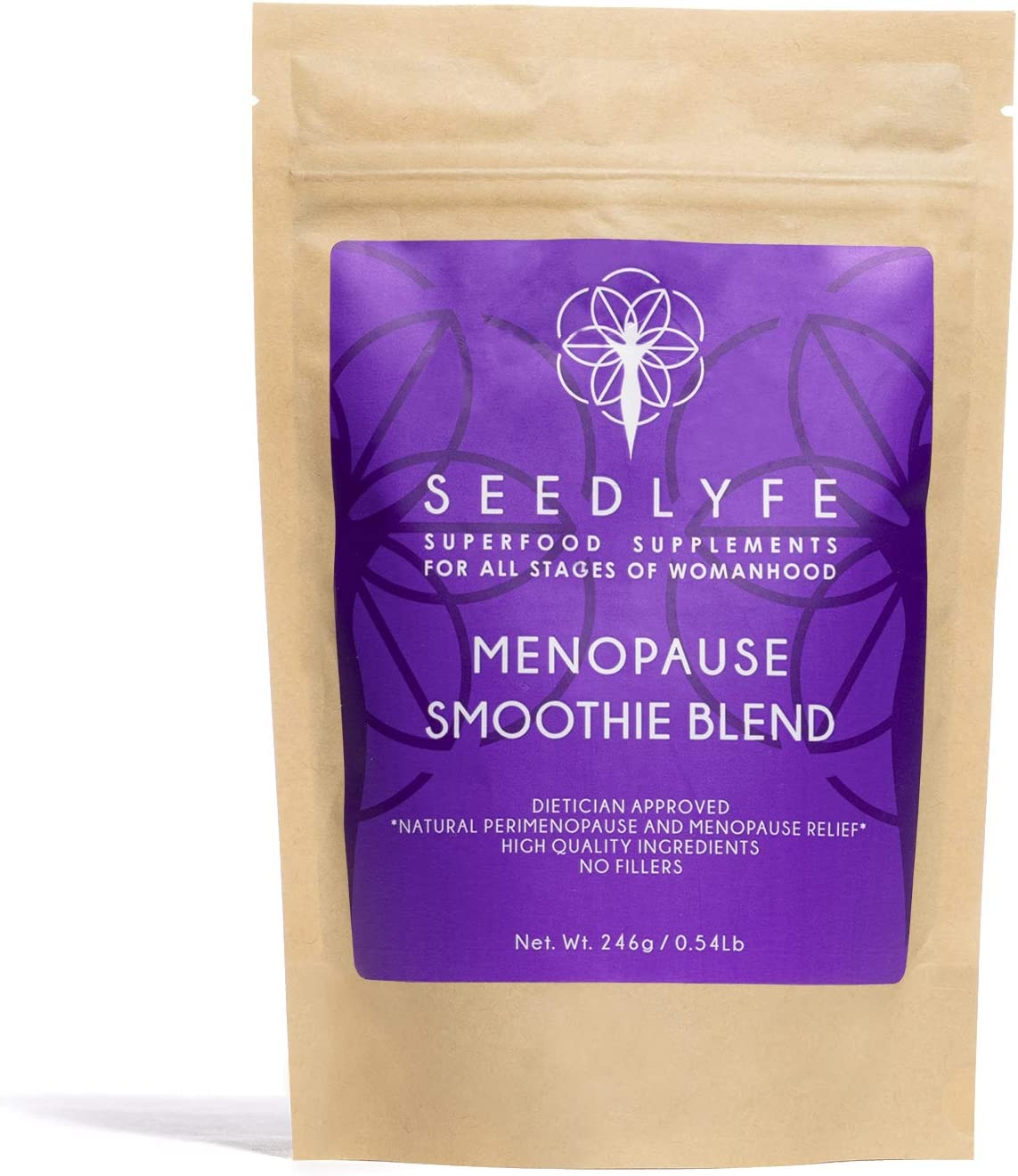 Seedlyfe Menopause Supplement for Women Superfood Powder - Dietician Approved Multi Symptom Relief: Hot Flashes, Night Sweats, Weight Gain, Low Energy, Black Cohosh + 21 Superfoods, 30 Servings