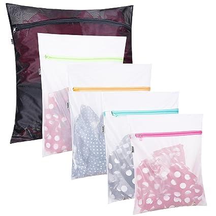 Eono Essentials Juego de 5 Bolsa para Lavadora, bolsas de colada con Cremallera Cerrada, Bolsa Malla de Lavandería, para Lavadoras, Ropa Delicada, ...