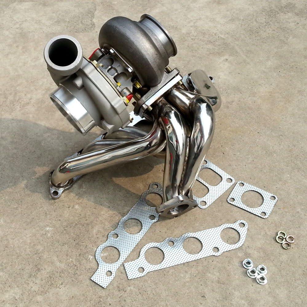 T4 bride collecteur pour 93-98 Toyota Supra 2 JZGE moteur