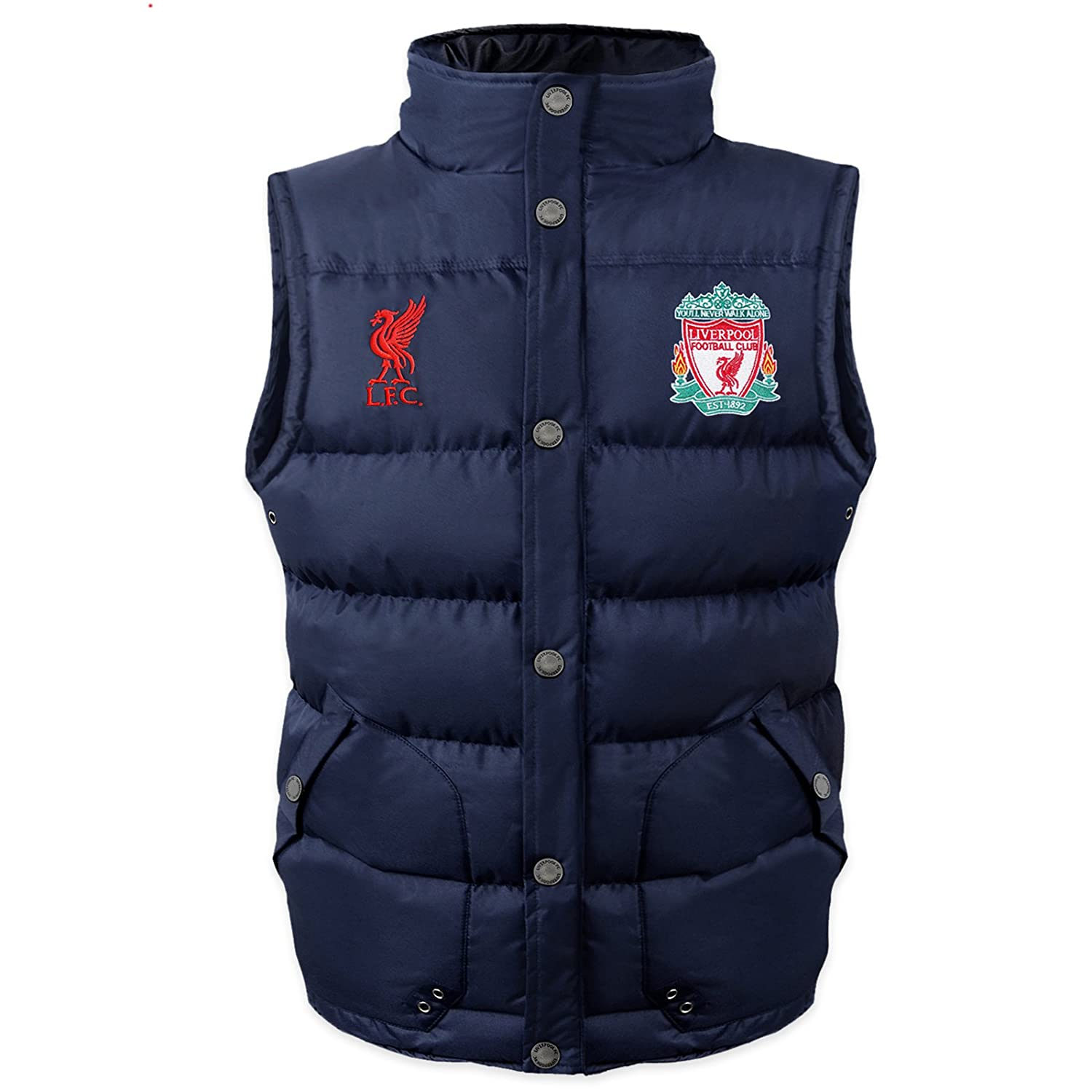 Liverpool Football Club Official Soccer Gift Boys Padded Body Warmer Gilet