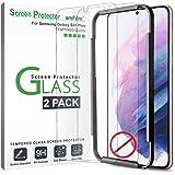 """amFilm (2 Piezas Protector Pantalla para Samsung Galaxy S21 Plus (6.7""""), Mica Cristal Vidrio Templado (No Compatible con Sens"""