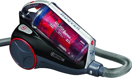 Hoover RE71_RE1011 Rush Extra RE 01-Aspirador sin Bolsa. Clase Energética: A. Eficiencia Suelos Duros: A. Multiciclónico, 2.5 litros, Negro luxor y rojo race: Amazon.es: Hogar