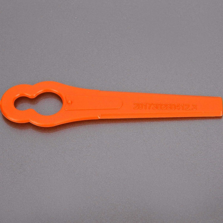 Anladia 50// 100pcs Cuchillas de Recambio para Cortabordes Hoja de Pl/ástico de Cortac/ésped Colores Diferentes 50, Naranja
