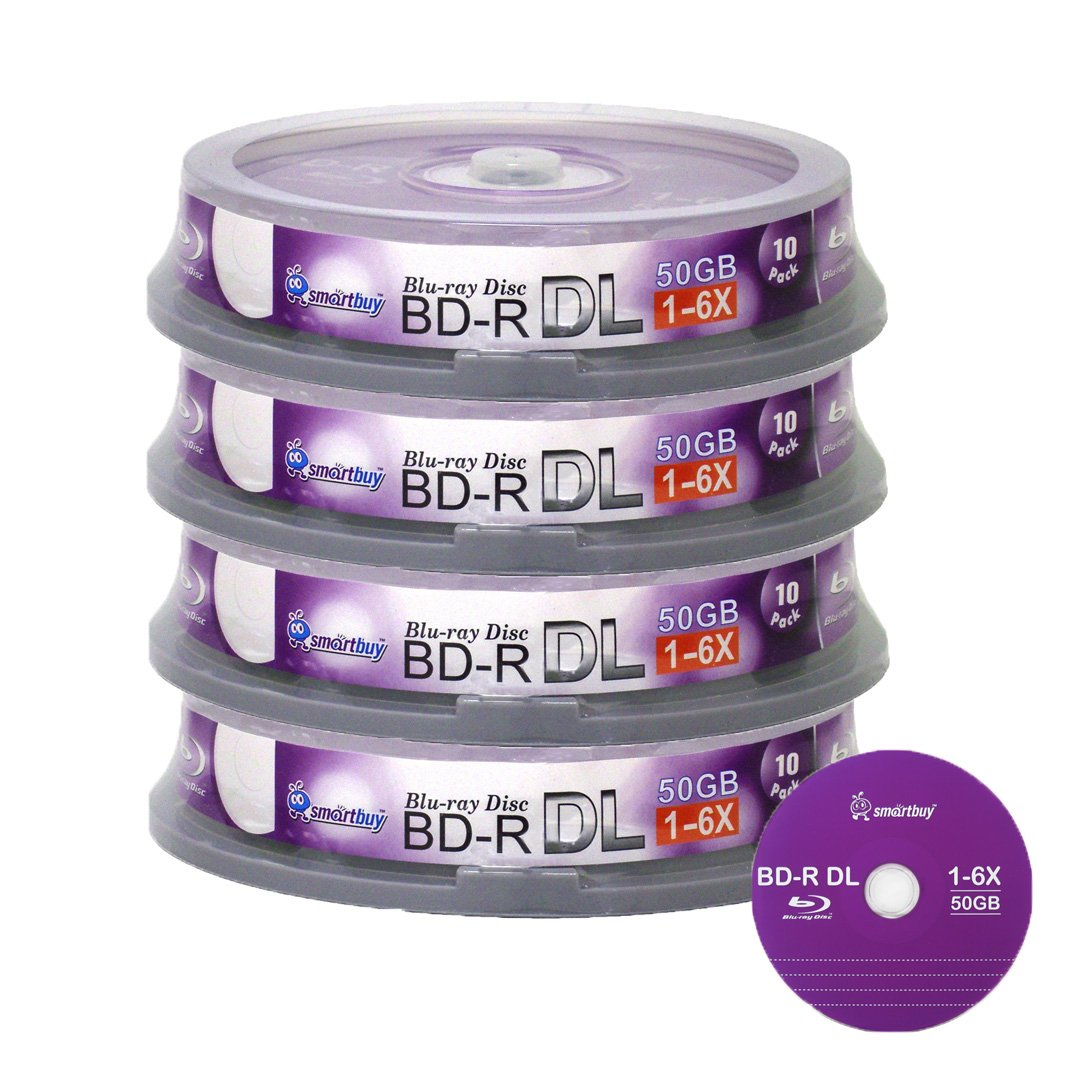 Smartbuy 50gb 6x Blu-ray Bd-r Dl Dual Layer Double Layer Logo Blank Data Recordable Media Disc Spindle (100-Disc) Taiwan LYSB00K7L2DFW-CMPTRACCS