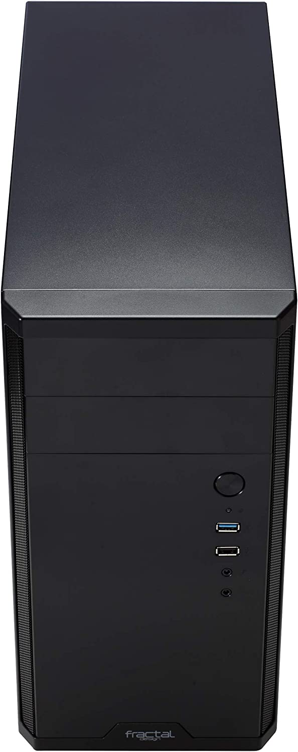 Mini Tower Computer Case Water-Cooling Ready Mini ITX Optimized High Airflow and Cooling 1X 140mm Silent Fan Included Brushed Aluminium Black Fractal Design Core 500