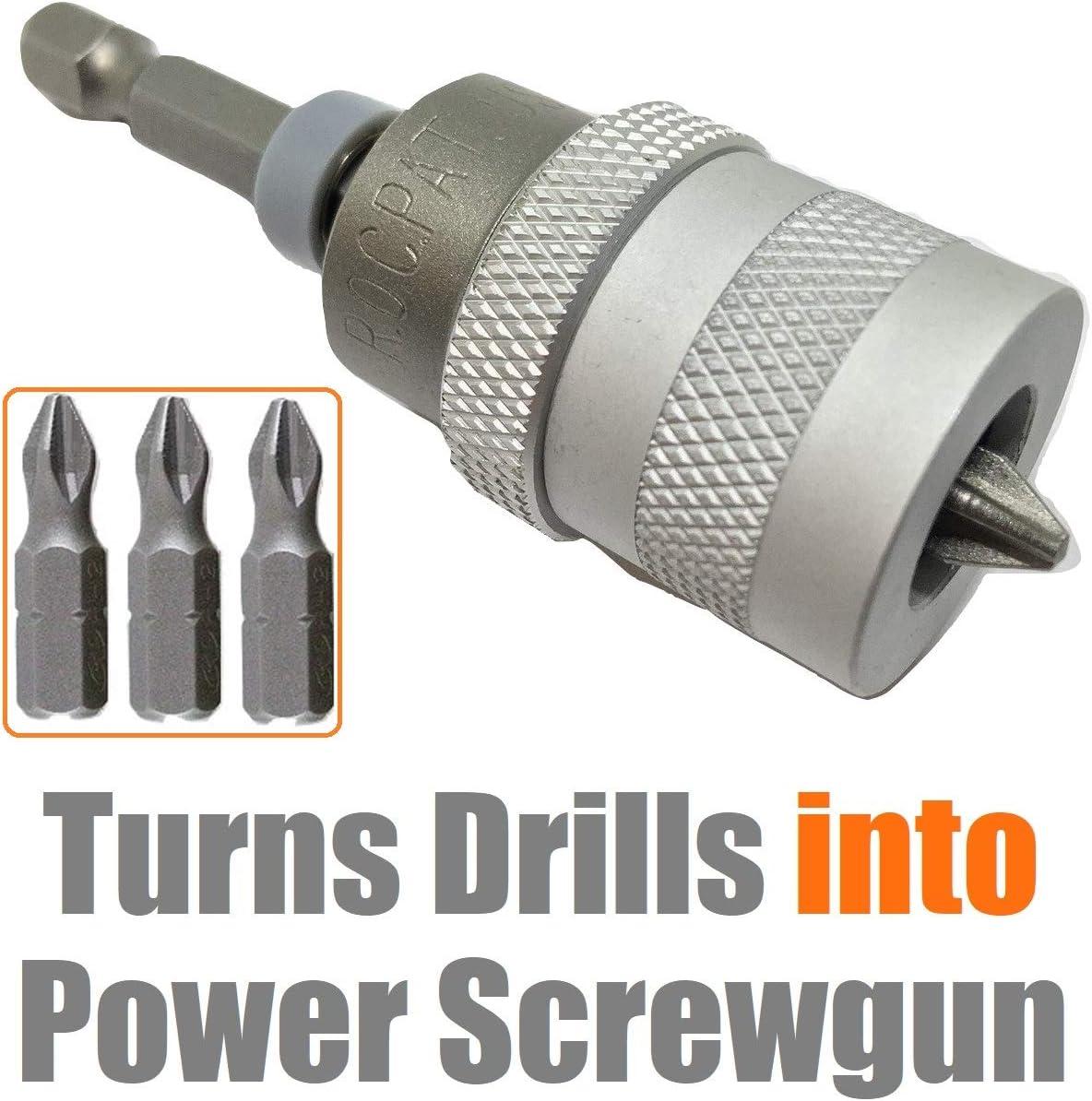 "1//4/"" Hex Shank Craft Quick Release Screwdriver Bit Drill Holder Tool MA"