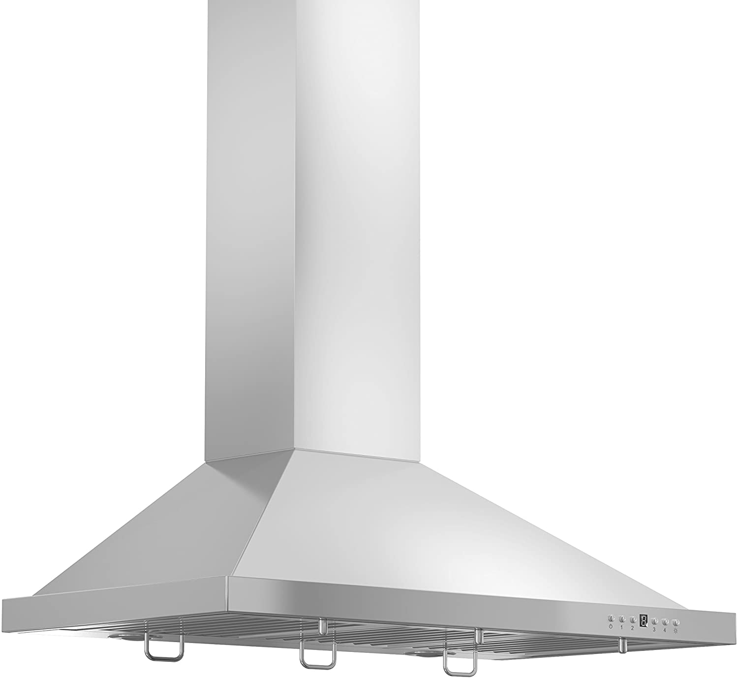 ZLINE 30 in. Wall Mount Range Hood in Stainless Steel with Crown Molding (KBCRN-30)