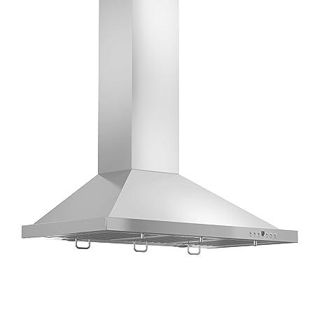 36 inch wall mount range hood wall mounted line kb36 stainless steel wall mount range hood 36inch amazoncom 36
