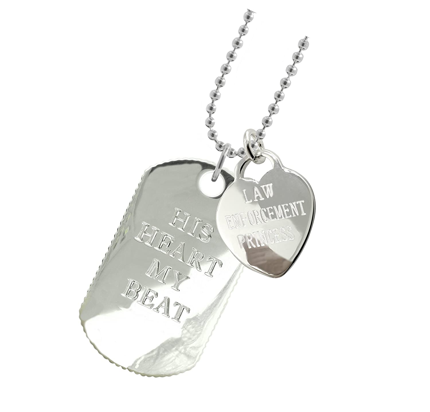 New York 925 & Co. Plated Police Girlfriend Dog Tag DT