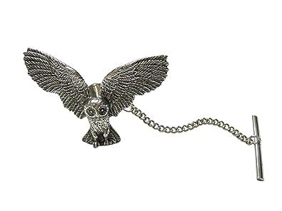 Plateado Toned con textura Búho Pájaro corbata Tack: Amazon.es ...